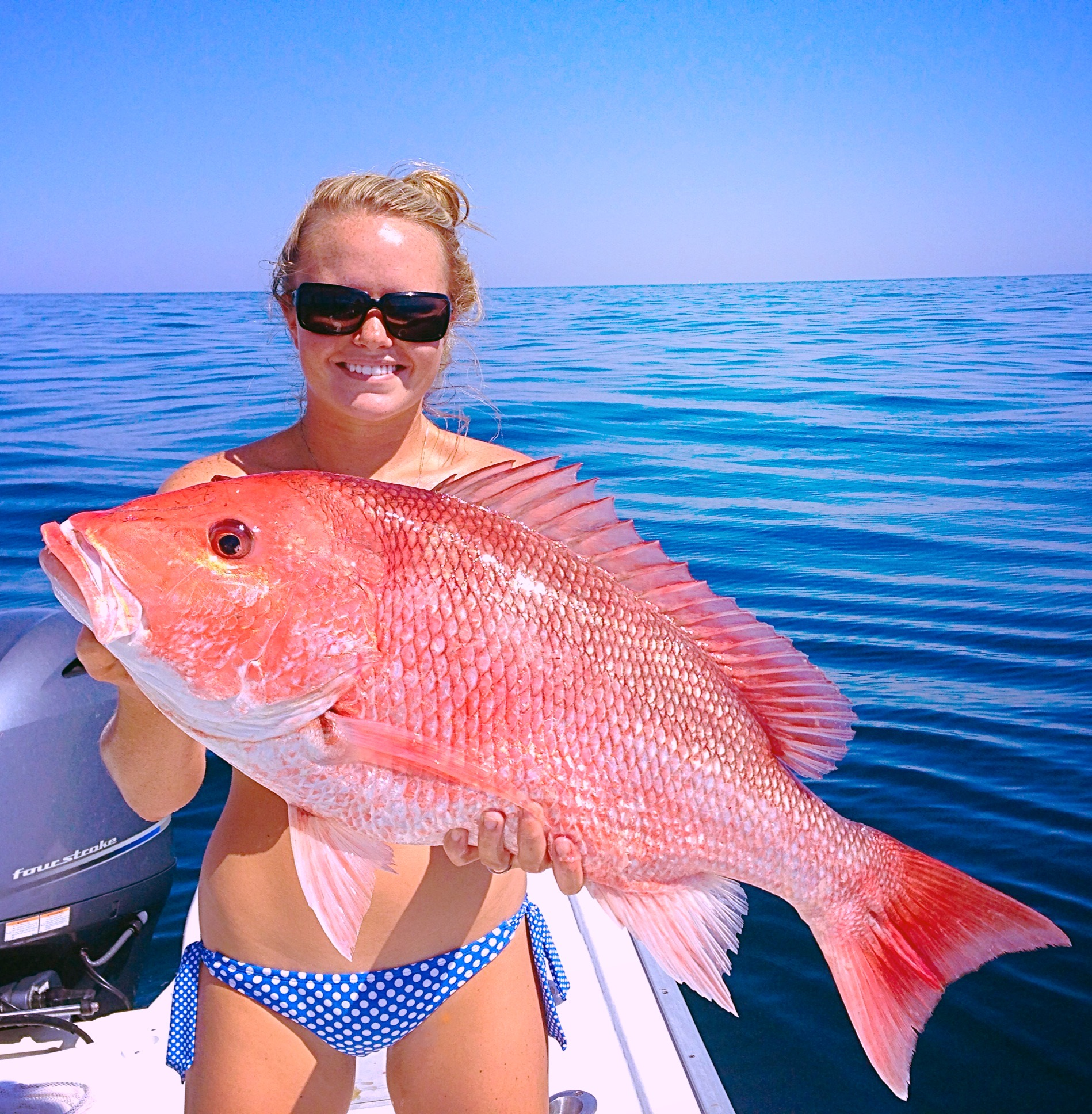red snapper caught by shelby kirby